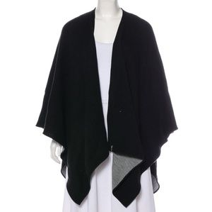 CALVIN KLEIN knit black poncho one size black gray
